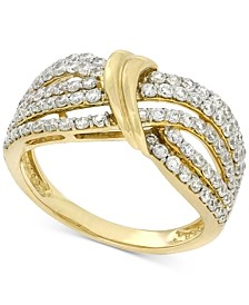 Wrapped in Love Diamond Statement Ring (1 ct. t.w.) in 14k Gold, Created for Macy's
