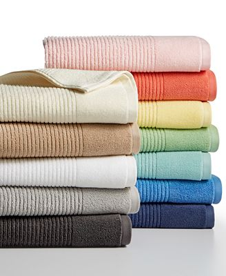 Martha Stewart Collection Quick Dry Reversible Towel Collection, 100% Cotton, Only at Macy's