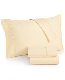 CLOSEOUT! Caprice Solid Queen 4-Pc Sheet Set, 350 Thread Count, Created for Macy's