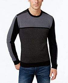 Alfani Men's Colorblocked Sweater, Created for Macy's