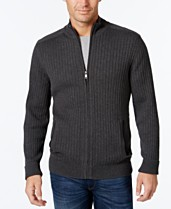 da2df226d6 Alfani Men's Ribbed Full-Zip Sweater, Classic Fit, Created for Macy's