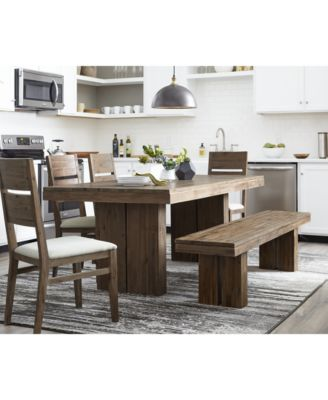Furniture CLOSEOUT! Champagne 4 Piece Dining Room Furniture Set, (Dining  Trestle Table, 2 Side Chairs U0026 Bench), Created For Macyu0027s   Furniture    Macyu0027s