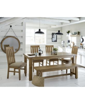 Abilene Solid Pine Dining Table - Furniture - Macy\'s