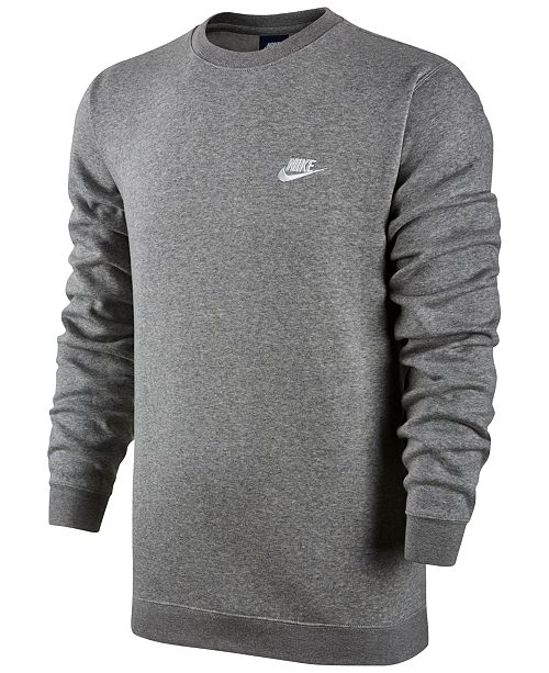 1b6541db Nike Men's Crewneck Fleece Sweatshirt & Reviews - Hoodies ...