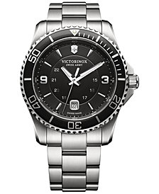 Victorinox Swiss Army Men's Swiss Maverick Stainless Steel Bracelet Watch 43mm 241697
