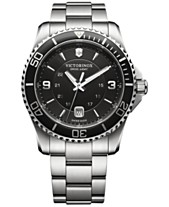 5f59ae73b28 Victorinox Swiss Army Men s Swiss Maverick Stainless Steel Bracelet Watch  43mm 241697