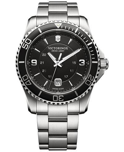 Victorinox Swiss Army Men's Swiss Maverick Stainless Steel Bracelet Watch 43mm 241697