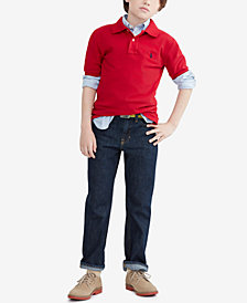 Ralph Lauren Pique Polo, Blake Oxford Shirt & Slim-Fit Jeans, Toddler, Little Boys & Big Boys