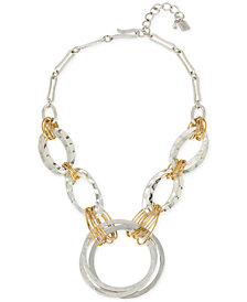 Robert Lee Morris Soho Two-Tone Large Link Statement Necklace