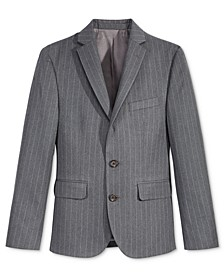 Charcoal Stripe Nested Jacket, Big Boys