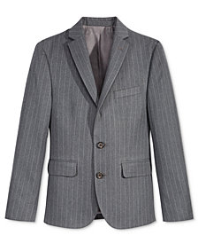Lauren Ralph Lauren Charcoal Stripe Nested Jacket, Big Boys