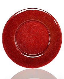 Serveware Verona Red Silver Glitter Charger