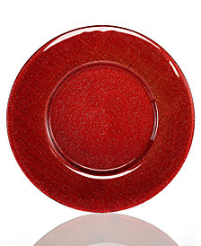 Villeroy & Boch Serveware Verona Red Silver Glitter Charger