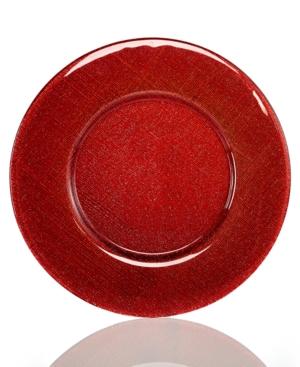 Villeroy  Boch Serveware Verona Red Silver Glitter Charger