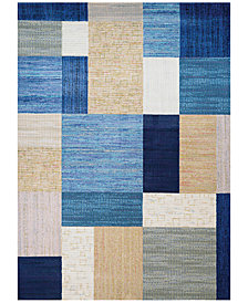 Couristan Taylor Geometrics Navy-Bone Area Rugs