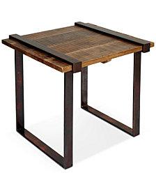Edon Strap Iron Side Table, Quick Ship