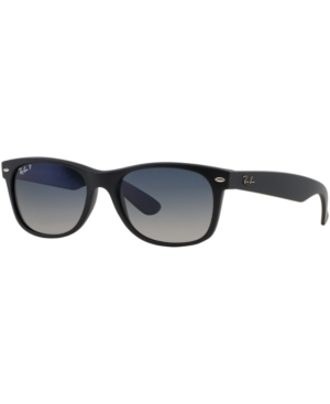 Ray-Ban Polarized New Wayfarer Gradient Sunglasses, RB2132 55