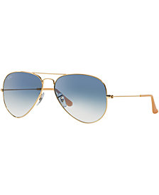 Ray-Ban AVIATOR GRADIENT Sunglasses, RB3025 62