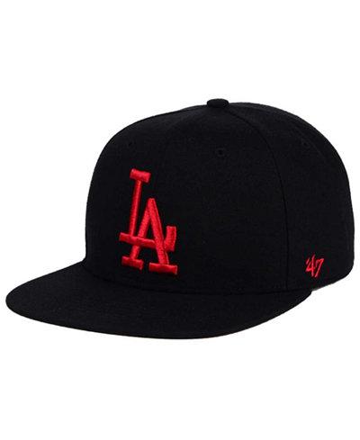 '47 Brand Los Angeles Dodgers Black Red Shot Snapback Cap