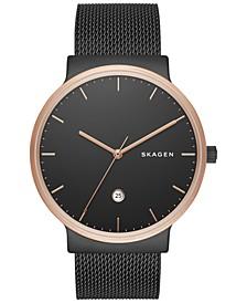 Men's Ancher Black Stainless Steel Mesh Bracelet Watch 40mm SKW6296