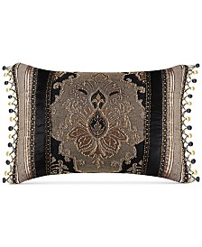 "J Queen New York Bradshaw Black 20"" x 15"" Decorative Pillow"