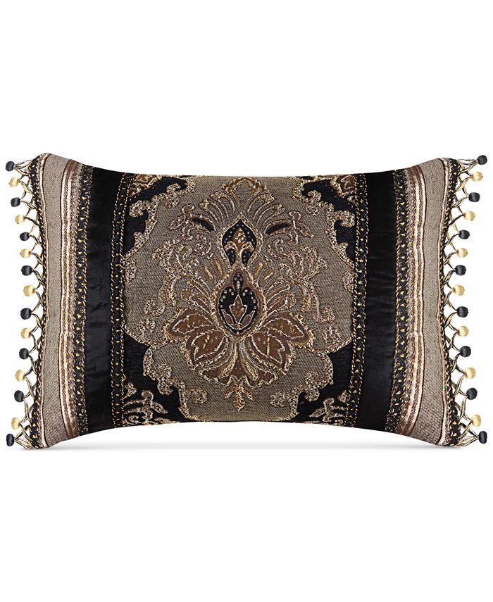 "J Queen New York - Bradshaw Black 20"" x 15"" Decorative Pillow"