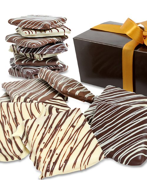 Chocolate Covered Company 12-Pc. Artisan Belgian Chocolate Covered Graham Crackers