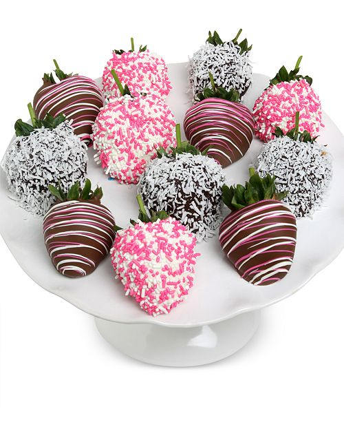 Chocolate Covered Company  12-Pc. Baby Girl Belgian Chocolate Covered Strawberries