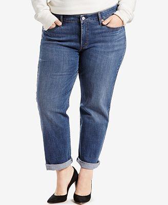 Levi S Plus Size Boyfriend Jeans Jeans Plus Sizes Macy S