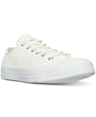 converse clearance outlet 93wc  Converse Women's Chuck Taylor Ox Craft Leather Casual Sneakers from Finish  Line
