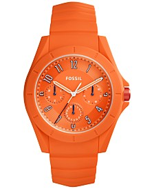 fossil fossil macy s fossil men s poptastic orange silicone strap watch 44mm fs5217