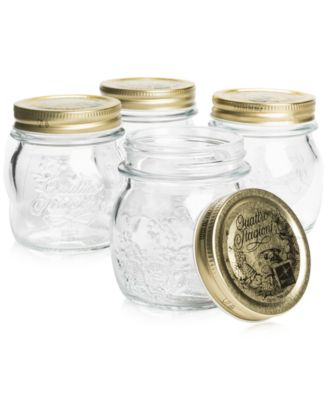 Quattro Stagioni 8oz. Canning Jars, Set of 4