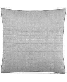 Hotel Collection Modern Plaid Quilted European Sham, Created for Macy's