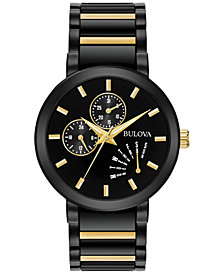 Bulova Men's Dress Two-Tone Stainless Steel Bracelet Watch 45mm 98C124