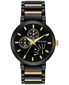 Bulova Men's Futuro Dress Two-Tone Stainless Steel Bracelet Watch 45mm 98C124