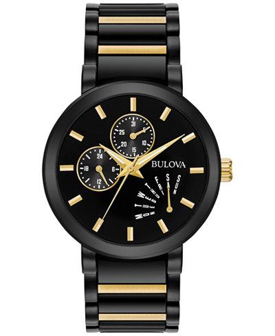 Bulova Men's Dress Two-Tone Stainless Steel Bracelet Watch 45mm 98C124