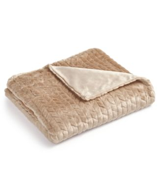 martha stewart collection quilted fauxfur throw created for macyu0027s