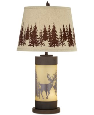 Great Pacific Coast Whitetail Deer Table Lamp