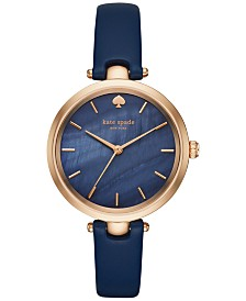 kate spade new york Women's Holland Leather Strap Watch, 34mm