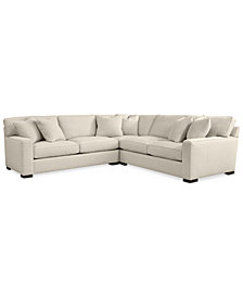 CLOSEOUT! Kelly Ripa Ampton 3-Pc. Sectional, Created for Macy's