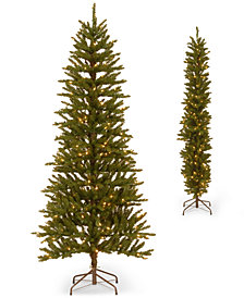 National Tree Company 6.5' Apartment Friendly 2D Half Christmas Tree with 250 Clear Lights
