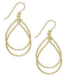 Giani Bernini Double Teardrop Drop Earrings in 18k Gold-Plated Sterling Silver, Created for Macy's