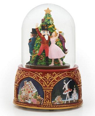 Roman Musical Nutcracker Ballet Snow Globe All Holiday