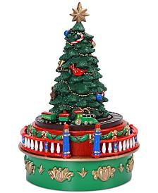 Mr. Christmas Mini Carnival Christmas Tree with Train Music Box
