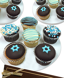 Chocolate Covered Company  12-Pc. Hanukkah Belgian Chocolate-Covered Cupcakes