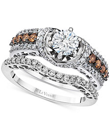 Le Vian® Bridal Diamond Bridal Set (1-1/2 ct. t.w.) in 14k White Gold