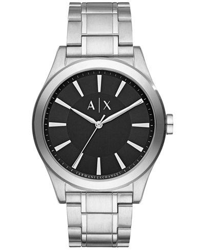 A|X Armani Exchange Men's Stainless Steel Bracelet Watch 44mm AX2320