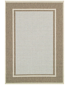 "Couristan Monaco Indoor/Outdoor Maritime Blue-Sand 5'3"" x 7'6"" Area Rug"