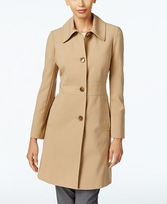 Larry Levine Single-Breasted Walker Coat, Only at Macy's