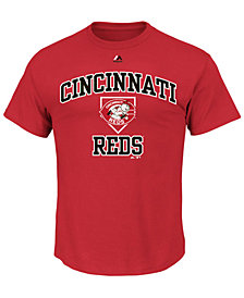 Majestic Men's Cincinnati Reds Hit and Run T-Shirt